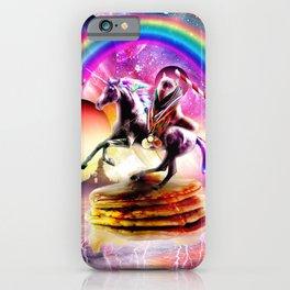 Cat Riding Unicorn With Pancakes And Milkshake iPhone Case