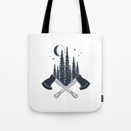Axes. Double Exposure Tote Bag