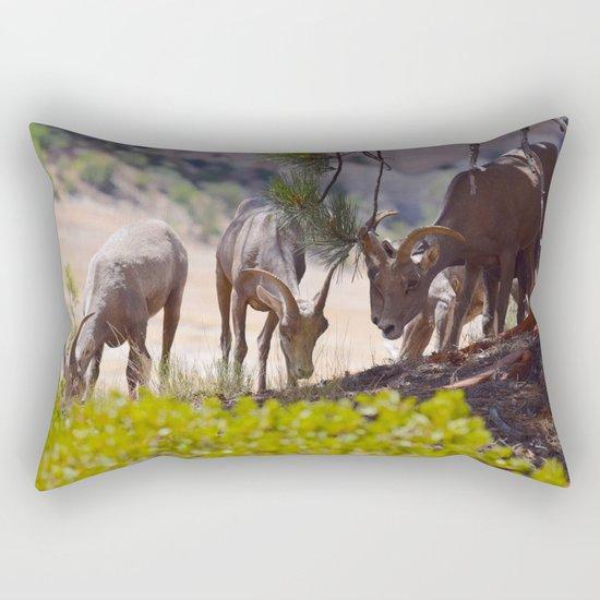 Desert Bighorn Sheep - Zion Rectangular Pillow