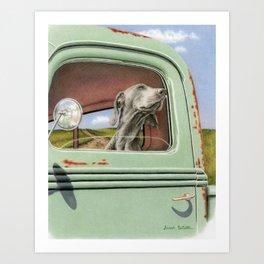 Goin' For A Ride Art Print