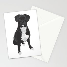 The Black & White Boxer Stationery Cards