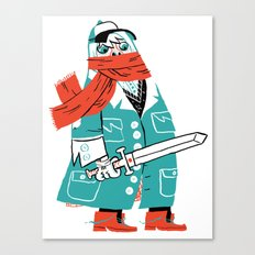 Creepy Scarf Guy Canvas Print