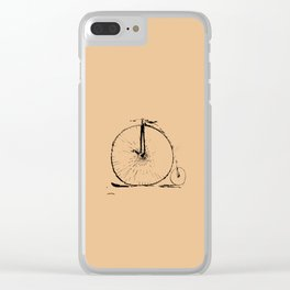 Unicycle Bike Clear iPhone Case