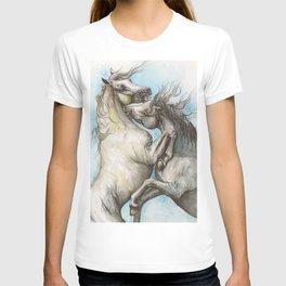 Fighting horses T-shirt