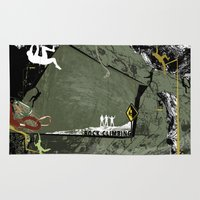 climbing Area & Throw Rugs featuring Rock Climbing by Robin Curtiss
