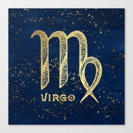Virgo Zodiac Sign Canvas Print