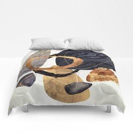 Abstract Pebbles III Comforters