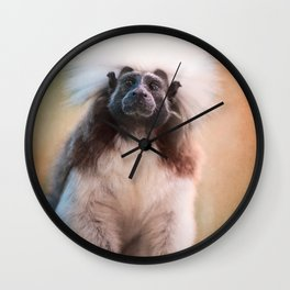 Pictorial Cotton Head Monkey Wall Clock