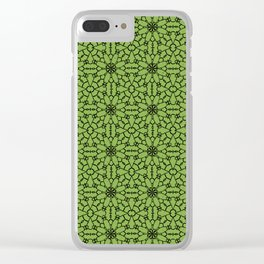 Greenery Lace Clear iPhone Case