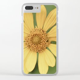 Beautiful Yellow Vintage Flower Clear iPhone Case