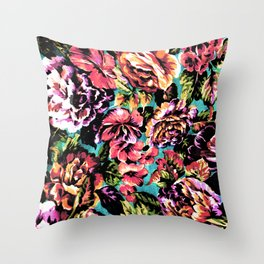 Psychedelic Flowerz Throw Pillow