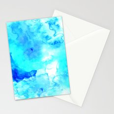 Modern blue sea hand painted watercolor Stationery Cards