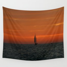 Sunset Sailing Wall Tapestry