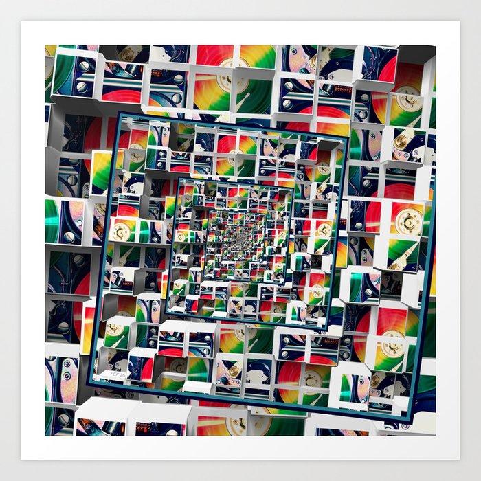 Computer Disks Pop Art Art Print