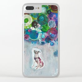 Laika, Canine Space Hero Clear iPhone Case