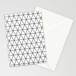 Triangular - Black and White Stationery Cards