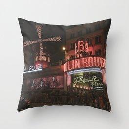Vintage Cabaret Throw Pillow
