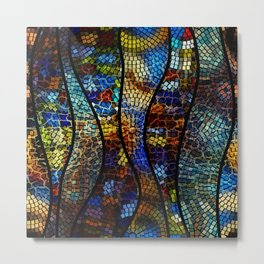 Mosaic Artwork Metal Print