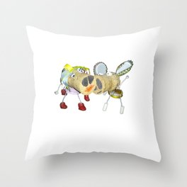 Tipsy Couple Throw Pillow