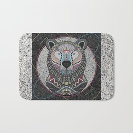 Neon Tribal Bear Bath Mat