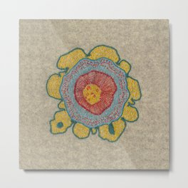 Growing - Pinus 1 - plant cell embroidery Metal Print