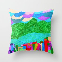 The Forcast for Today, Looks Bright. Have a Good One! Throw Pillow