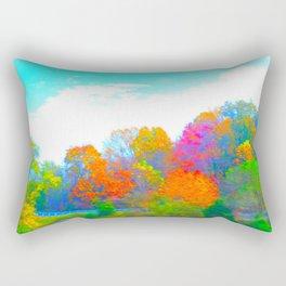 Neon Forest Rectangular Pillow