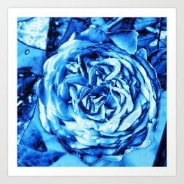 Rose metallic ice Art Print