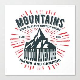 Mountains stamp print design Canvas Print