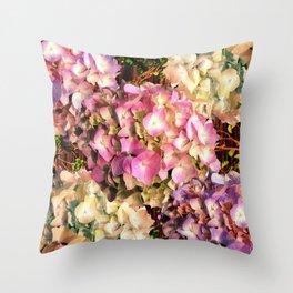 Hydrangea Sunlight Throw Pillow