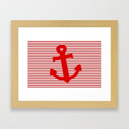 Boat Anchor Framed Art Print