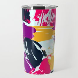 Trendy Multi Colored Paint Splash Pattern Travel Mug