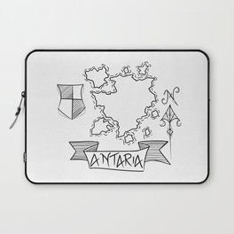 Antaria - Fantasy Map with Wind Rose and Crest Laptop Sleeve