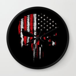 Punisher American flag Wall Clock