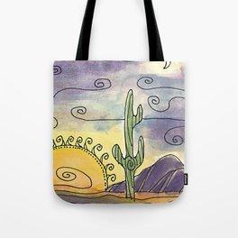 Sacred Saguaro Tote Bag
