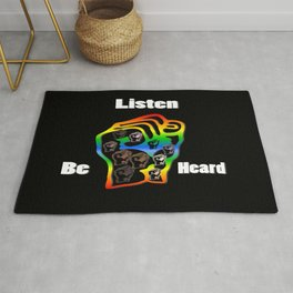 Fight For Equality Social Justice Rug