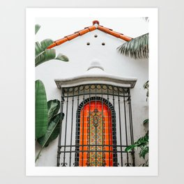 Spanish-Style Fountain . Santa Barbara, California Art Print