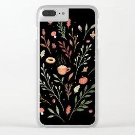 Autumn Days Clear iPhone Case