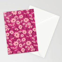 Cosmea pink Stationery Cards