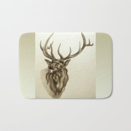 Elk Portrait - In the Roar Bath Mat