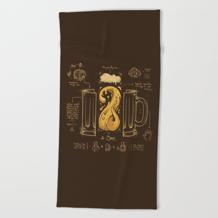 Le Beer (Elixir of Life) Beach Towel