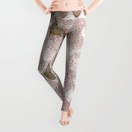 SUMMER MERMAID NUDE ROSEGOLD by Monika Strigel Leggings