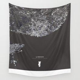 Lisbon City Map I Wall Tapestry