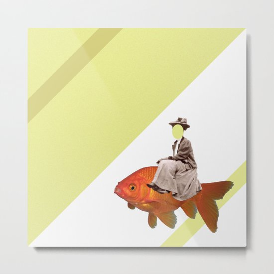 Sidesaddle on a goldfish Metal Print