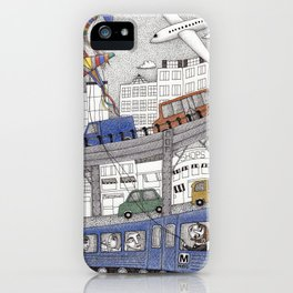 Taking the Red Line iPhone Case