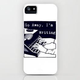 Go Away, I'm Writing (Navy) iPhone Case