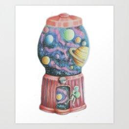 Planetary Gumball Machine Art Print