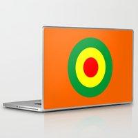 reggae Laptop & iPad Skins featuring Rasta Reggae Dub Roundel by artberry