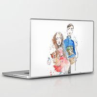 laura palmer Laptop & iPad Skins featuring Laura  by Katja Main
