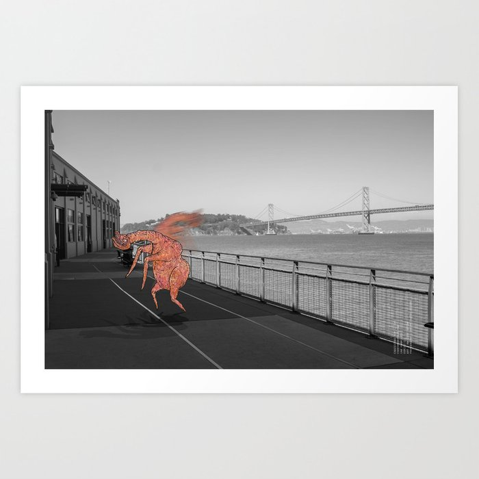 Unseen Monsters of San Francisco - Chazzichad Mowilliams Art Print